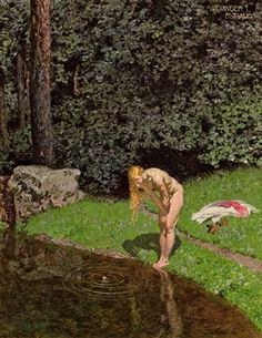 Alexander Rothaug - At the pond (1910)
