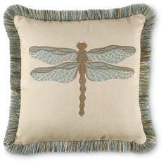 Dragonfly Pillow. All weather.