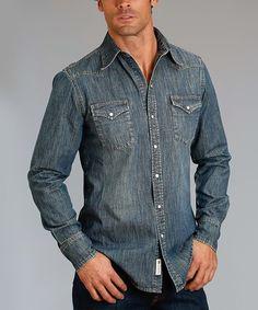 This Light Denim Button-Up Shirt - Men & Big is perfect! Denim Button Up, Button Up Shirts, Light Denim, Buttons, Shirt Men, Stuff To Buy, Big, Tops, Fashion