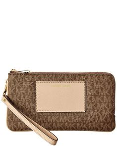 Michael Michael Kors Bedford Signature Large Double Zip Wristlet ** Check this awesome image
