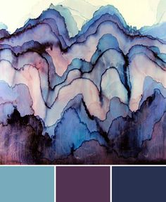 blues and purples, color palette