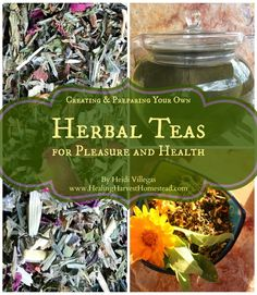 Have you ever wanted to know how to use herbs to create your very own tea blends for either taste or for medicinal purposes?  This eBook contains everything I wish I had known about creating my own teas years ago, when I first started learning about herbs. Also included:  12 of my popular tea blends!