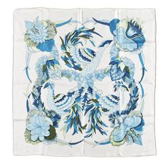 "A 1970s silk scarf by Hermès, ""Tahiti""."
