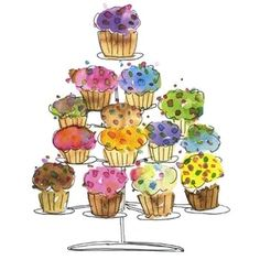 Cute drawing of....what else....cupcakes. :-)