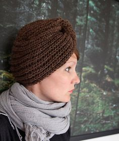 Ravelry: Winter turban pattern by Anna & Heidi Pickles; knit pattern, but would be interesting to make a crochet version
