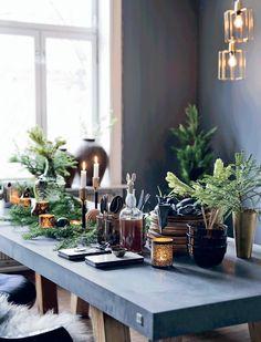 Atelier rue verte, le blog / Noël 2015 / Inspirations #10 / A Oslo, une table naturelle / Photos Bolig /