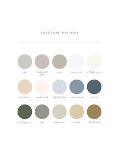 Gatherie Creative — The Sofia 5-Piece Suite - beautiful envelope colors