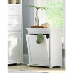 Home Decorators Collection Hampton Bay Tilt Out Hamper Single 24 In W In White