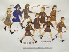 Brownie Guide Uniforms Through the Ages