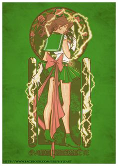 "Mucha Style - "" #Jupiter"" "" #SailorMoon"" Illustration in style of ""Alphonse Mucha"" by ""EriphyleArt"""