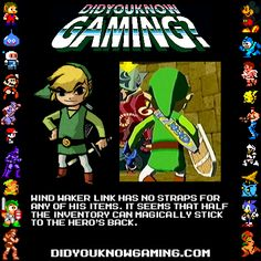 Wind Waker Link is strapless?