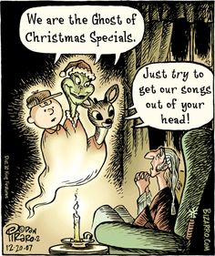We are the Ghost of Christmas Specials ~ Charlie Brown, Grinch, and Rudolph | Bizarro Comics (2007-12-20)