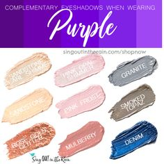Wondering what Eyeshadow colors to wear with Purple clothing?  Let SeneGence ShadowSense help.  Shadowsense is non-smudging, budging and will LAST all day long on your eyes.  Click here to shop and grab your own!  #shadowsense #senegence