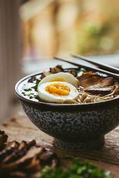 Japanese Soba Noodle Soup with Slow Roasted Pork