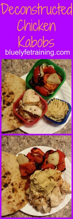 Chicken kabobs are a favorite in our household - but portion control is an issue.  So I started deconstructing them after they're cooked so I can measure out how much we should be eating.  This doesn't make them any less enjoyable or delicious!  ::Have your kabobs and abs too! :: 21 Day Fix Containers are what we use to teach us the correct portions