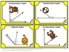 FREE!!! Geometry: You will receive 6 free task cards focusing on geometry angles. Students are given an angle image and must find the missing angle. Angles include complementary, supplementary, adjacent and vertical. A student response form and key are provided. You will also receive scavenger hunt directions and 20 other uses for these task cards.