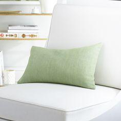 European Flax Linen Pillow Cover – Leaf Kidney