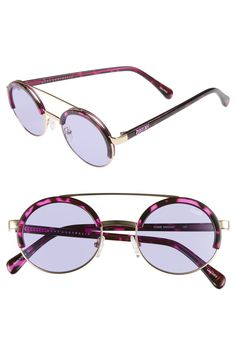 Free shipping and returns on Quay Australia Come Around 52mm Round  Sunglasses at Nordstrom.com 21607b2f3f
