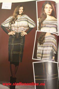 Inspiration herfst/winter 2014. Shirt gemaakt van 'envolvido' een prachtige iets vollere jersey van Hilco stoffe.