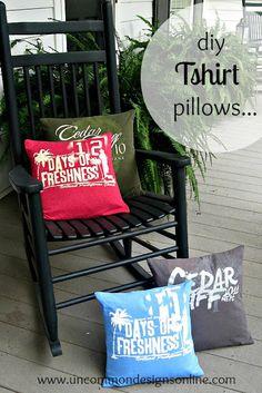 Tshirt Pillow { T Shirt Pillows }