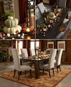 Holiday table decorating idea! Madison Burlwood Dark Butter Area Rug.#setthetable #mohawkhome #americanrugcraftsmen
