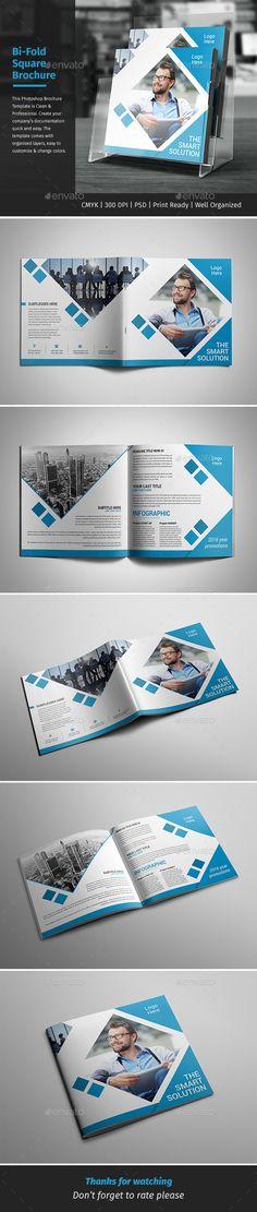 Corporate Bi-fold Square Brochure Template PSD. Download here: http://graphicriver.net/item/corporate-bifold-square-brochure-05/15881415?ref=ksioks