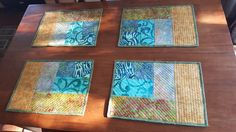 Cotton Theory quilted placemats 2015