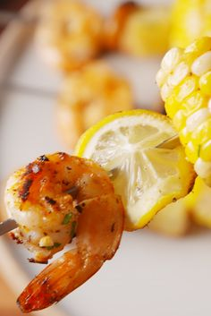 We turned our shrimp boil foil packs​ into an awesome party skewer.​
