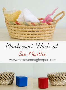 Montessori for babies -- Montessori Work Shelves at 6 Months.