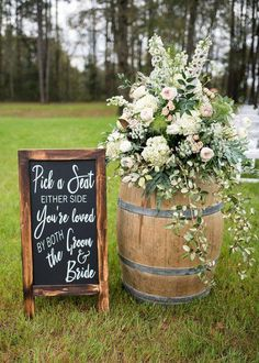 Pick a seat not a side chalkboard decal sign seating sign pick a seat sign wedding seating wedding signage wedding decor ceremony ideas backyard wedding seating layout chairs for chairs ideas layout seating wedding Wedding Ceremony Ideas, Wedding Signage, Wedding Reception Decorations, Wedding Venues, Reception Seating, Outdoor Wedding Seating, Outdoor Ceremony, Wedding Backyard, Outdoor Wedding Entrance