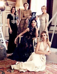 The Ladies of Downton in Bazaar magazine 2014