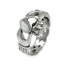 Stainless Steel 9mm High Polish Heart with Hands Claddagh Design Fashion Ring for Men (Size 9 to 13) The World Jewelry Center. $13.95. Special manufacturing process held to ensure less wear, tarnish, and rust.. From our exclusive Shimmering Collection, this item showcases the finest Stainless Steel designs available today!. Promptly Packaged with Free Gift Box and Gift Bag