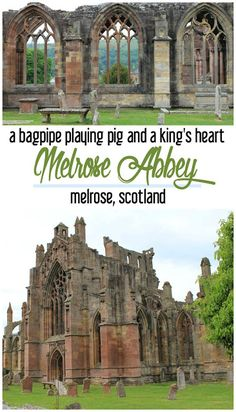 A bagpipe playing pig, religious history, buried hearts: these are just a few reasons why Melrose Abbey makes the list of must-see historic ruins near Edinburgh, Scotland! Scotland Travel Guide, Scotland Road Trip, Ireland Travel, Scotland Castles, Edinburgh Scotland, Places To Travel, Travel Destinations, Travel Tips, Travel With Kids