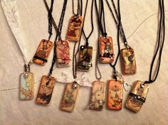 Wonderful Magic of Oz Domino necklaces from @Dawn Soto! What a wonderful collection and perfect gifts! #graphic45 #jewelry