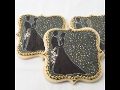 How to Decorate Hand Painted Wedding Cookies with Dot Art