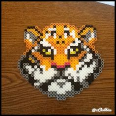 Tiger perler beads by xchubbiee