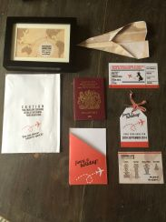 30th Birthday Ideas for my husband - Holiday Vacation kit reveal birthday present gift kit