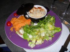 Risotto au St Jaques - Parmentier Canard/Patate douce  un délice