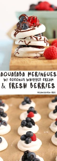 These mini aquafaba meringues are made with coconut whipped cream and fresh berries for a vegan spin on the classic Baccone Dolce. Click the photo for this amazing recipe!