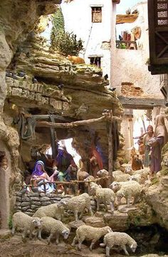 Verkami: Ideas to build your Bethlehem Fontanini Nativity, Diy Nativity, Christmas Nativity Scene, Christmas Villages, Christmas Carol, Christmas Home, Nativity Painting, Christmas Crib Ideas, Christmas Decorations
