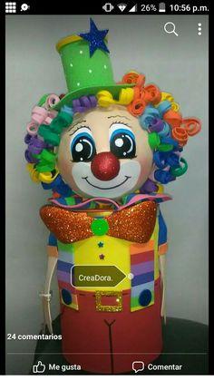 Dulceros Halloween, Clown Party, Clowns, Pre School, Gnomes, Alice In Wonderland, Baby Shower, Crafts, Sock Snowman