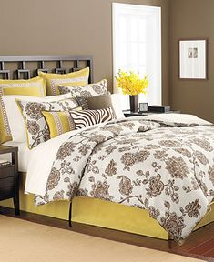 Martha Stewart Collection Bedding, Rose Charmont 9 Piece California King Comforter Set - Bed in a Bag - Bed & Bath - Macy's