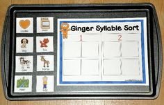 The Gingerbread Man Story Syllable Sort Cookie Sheet Activity focuses on words and syllables.  In this activity, students look at characters and setting elements from the Gingerbread Man Story, and sort them by syllables.  Cookie sheet activities work well in both learning centers and independent work stations.