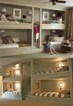 Perfect bedroom idea with lots of kids