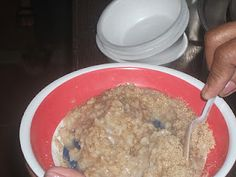 The natural cereal is made from toasted rice bran, malunggay leaves, soybeans, monggo, and powdered squash or papaya seeds. Squash, Cereal, Oatmeal, Seeds, Rice, Leaves, Breakfast, Food, Pumpkins