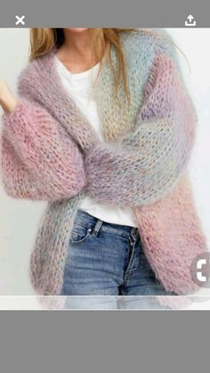 Size S M L XL Thick image 1 Mohair cardigan pattern . Size S M L XL Thick image 1 Gilet Mohair, Mohair Cardigan, Sweater Knitting Patterns, Hand Knitting, Knit Cardigan Pattern, Gros Pull Mohair, Knitwear Fashion, Knit Fashion, Pulls