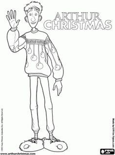 Arthur Christmas Santa Coloring