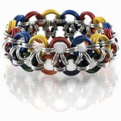 Rainbow Japanese 12 in 2 Stretchy Bracelet
