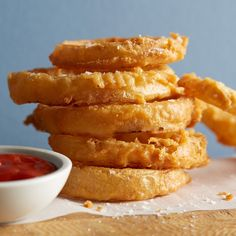 The addition of high-quality beer and a tempura-like batter make these onion rings lighter and more flavorful than the greasy ones you might know.