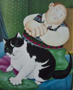 Britain's Biggest Stockist of Beryl Cook Fine Art Beryl Cook, Plus Size Art, Naive Art, Art For Art Sake, Cat Drawing, Whimsical Art, Beautiful Paintings, Cat Art, Female Art